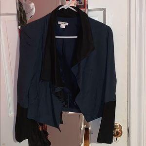 Helmut Lang Drapey Blue and Black Blazer